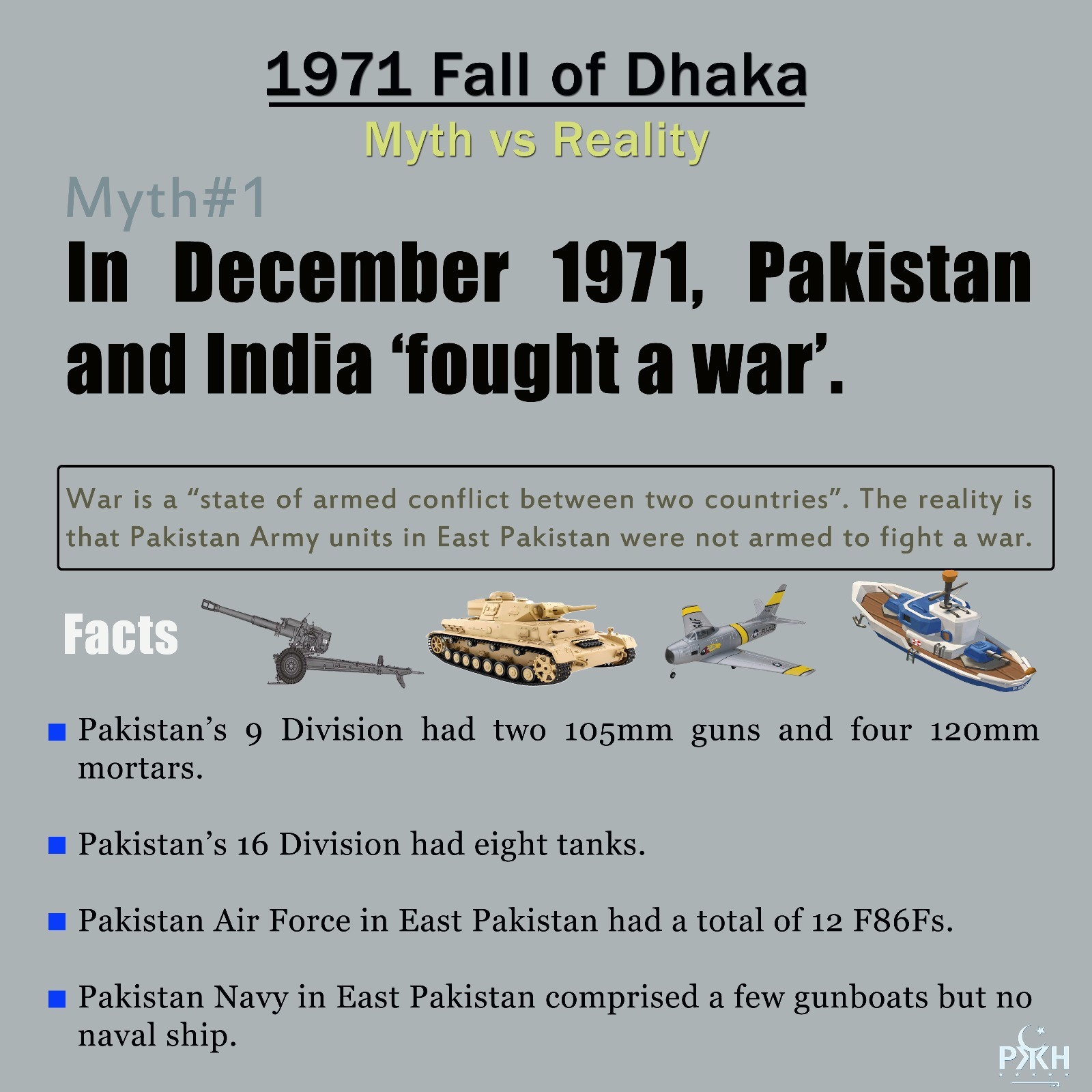 1971 fall of dhaka, myth vs reality. myth1