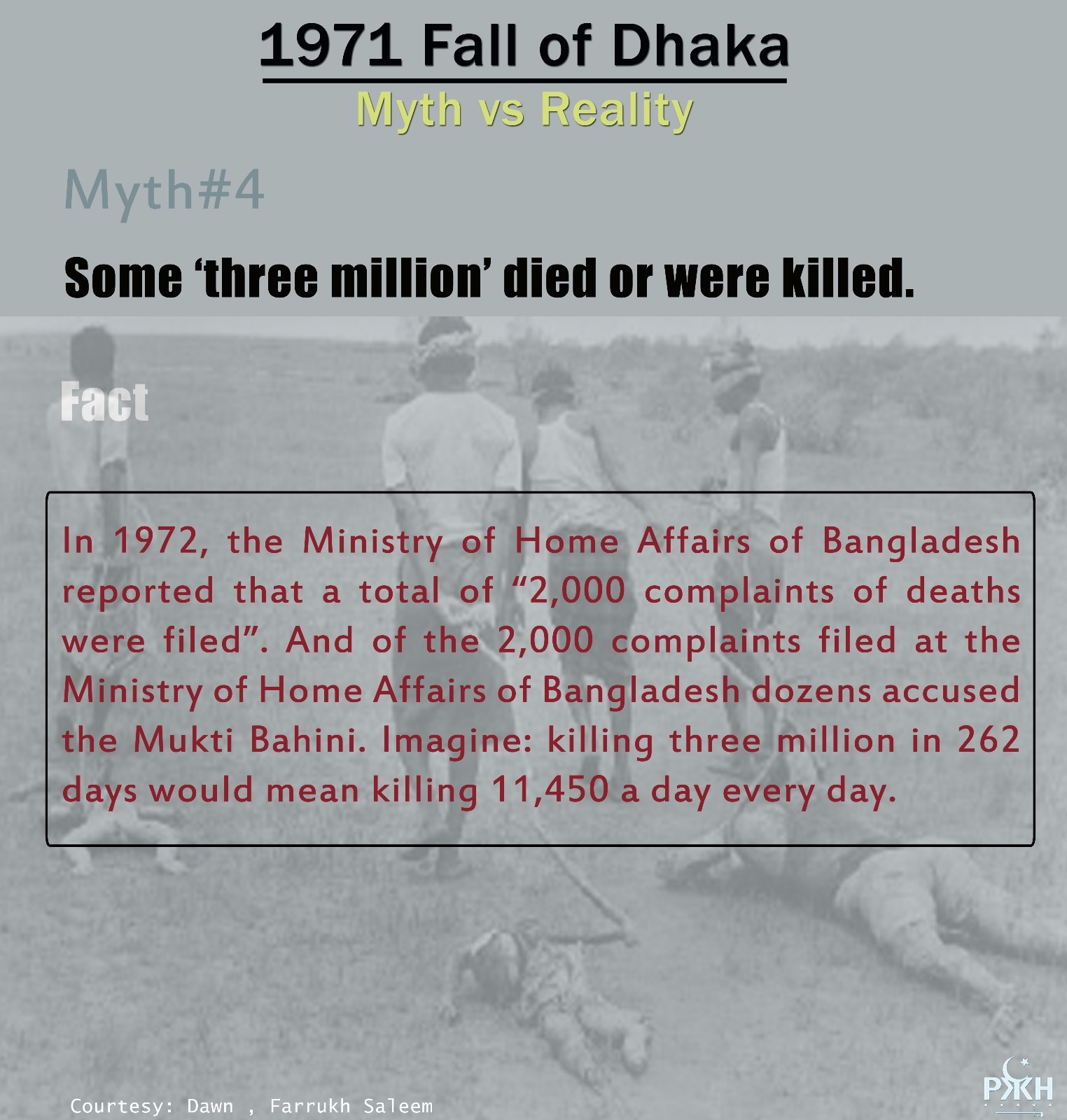 1971 fall of dhaka, myth vs reality. myth4