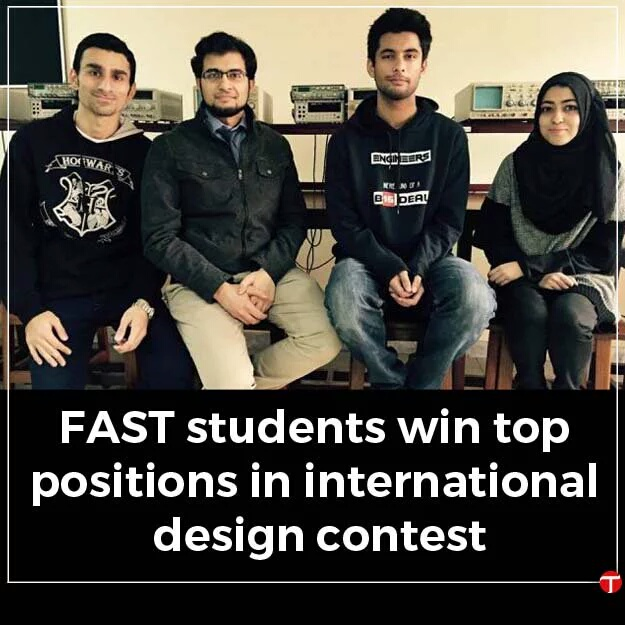 FAST students win top positions in International design contest