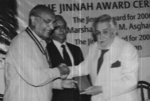 Air Marshal Asghar Khan with Ardeshir Cowasjee
