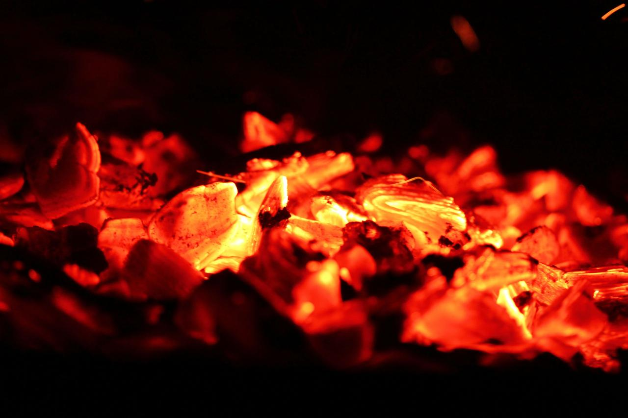 Fire ashes
